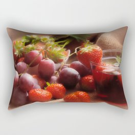 Fresh strawbeerie and Grapes to fall in love with Rectangular Pillow