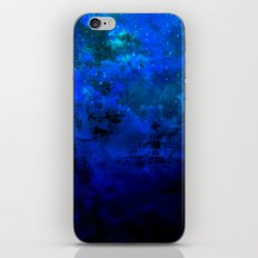 SECOND STAR TO THE RIGHT Rich Indigo Navy Blue Starry Night Sky Galaxy Clouds Fantasy Abstract Art iPhone & iPod Skin