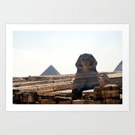 Great Sphinx of Giza, Cairo, Egypt Art Print