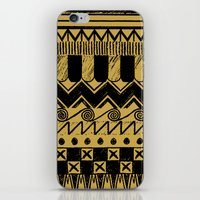 egypt iPhone & iPod Skins featuring Aztec Egypt by DeMoose_Art