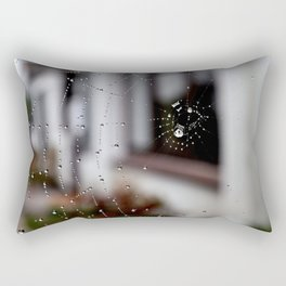 cobweb drops Rectangular Pillow