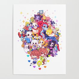 UNDERTALE MUCH CHARACTER Poster