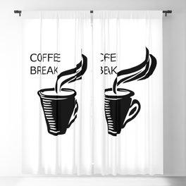 Coffee Break Blackout Curtain