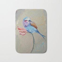 Spring Song - Bird On Tulip Bath Mat
