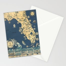 old florida map Stationery Cards