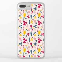 Fruit Punch Flowers Clear iPhone Case