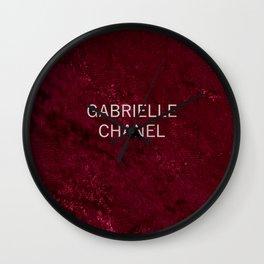 coco gabrielle burgundy velvet edition Wall Clock