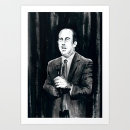 DARK COMEDIANS: Jerry Seinfeld Art Print