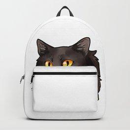 Nebelung Cat Cats Kitty Comic Cartoon Love Face Backpack