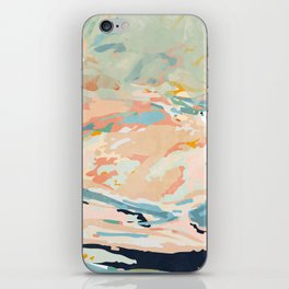 abstraction landscape in pastels iPhone Skin