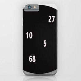 horloge chiffres iPhone Case