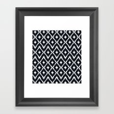 southwest diamonds _ black on white Framed Art Print