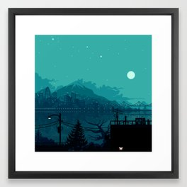 Dark Harbor Framed Art Print