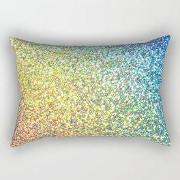 Glitter Rainbow Rectangular Pillow