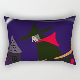 A Whimsical Witch Rectangular Pillow