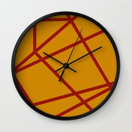 Lost In Another Dimension - Yellow Ochre Wall Clock