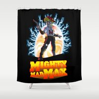 mad max Shower Curtains featuring Mighty Mad Max by ADobson