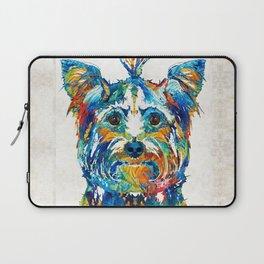 Colorful Yorkie Dog Art - Yorkshire Terrier - By Sharon Cummings Laptop Sleeve
