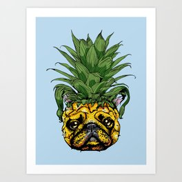 Pineapple French Bulldog Art Print