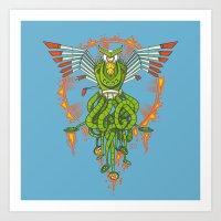 Hawktopus Art Print