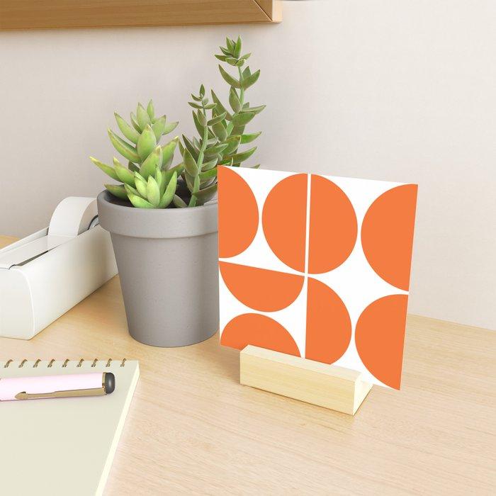 Mid Century Modern Orange Square Mini Art Print