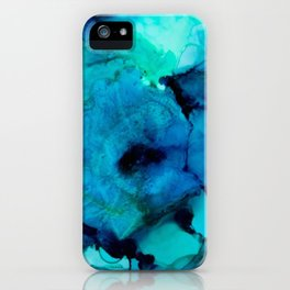 Booming Turquoise iPhone Case