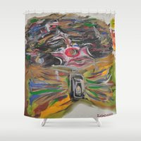 clown Shower Curtains featuring CLOWN  by Loosso