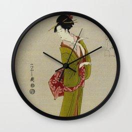 Itsutomi - Vintage Japanese Woodblock Wall Clock
