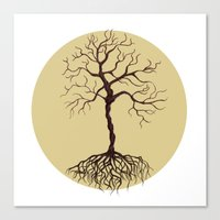 tree of life Canvas Prints featuring life tree by Mihai Paraschiv