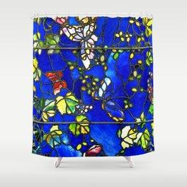 "John La Farge ""Butterflies and Foliage"" window. 1889 (1.) Shower Curtain"
