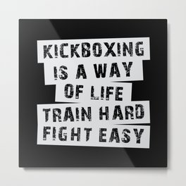 Kickboxing Boxing Karate Martial Arts Funny Gift Metal Print