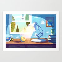 pixar Art Prints featuring Pixar by The Fox And King