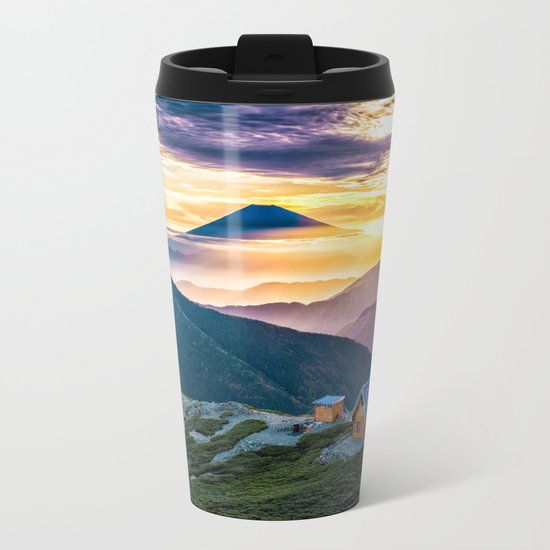 Mt Fuji I Metal Travel Mug