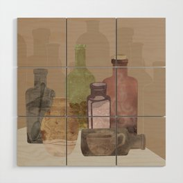Deconstructed Coffee Wood Wall Art