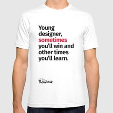 Young Designer — Advice #2 Mens Fitted Tee White MEDIUM