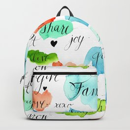 Family - Watercolor Backpack