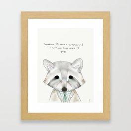 rusty racoon Framed Art Print