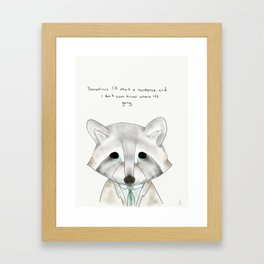 rusty racoon Framed Art Print