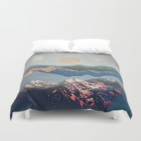 inception Duvet Covers featuring Rolling Mountains by AmandaRoyale