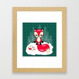 Fox's Christmas Dinner Framed Art Print