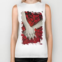hands Biker Tanks featuring Hands by MARIA BOZINA - PRINT