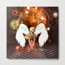 The beautiful steampunk angel Metal Print