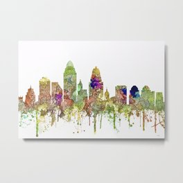 Cincinnati, Ohio Skyline SG - Faded Glory Metal Print