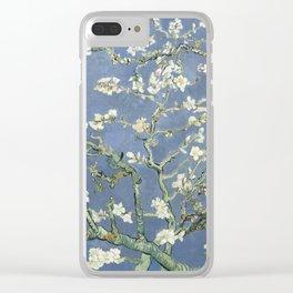 Almond Blossom - Vincent Van Gogh (blue pastel) Clear iPhone Case