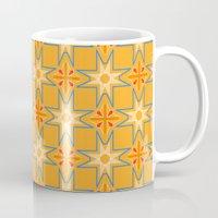 orange pattern Mugs featuring Orange Pattern by Anna Benjamin