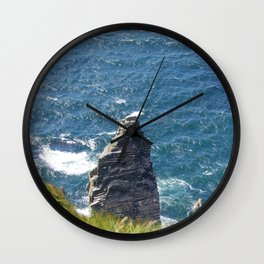 The Rock at the Cliffs of Moher Wall Clock