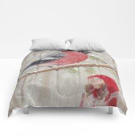Bullfinch and Gnome-girl - Christmas Comforters