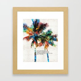 Colorful Palm Trees - Returning Home - By Sharon Cummings Framed Art Print
