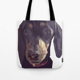 Geometric Sausage Dog Digitally Created Tote Bag