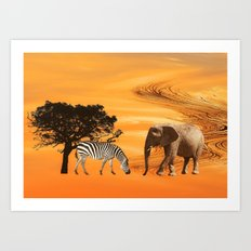 African Safari Art Print